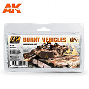 AK Interactive 4120 - Burnt Vehicles Weathering Set