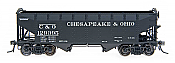 Intermountain Railway 47160-01 HO AAR Alternate Standard 2-Bay Hoppers Chesapeake and Ohio #129002