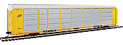 Walthers Proto 101420 - HO 89ft Thrall Enclosed Tri-Level Auto Carrier - Chicago & North Western/ETTX Flat #802647